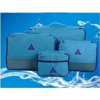4 Stück Koffer Organizer Gepäcktasche Reise blau
