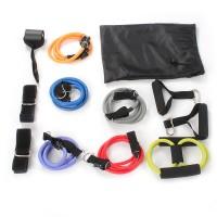 12 pcs Expander Tube Fitness Bänder Fitnessband