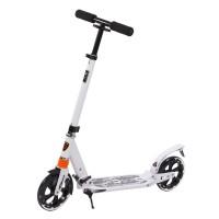 Klappbar Scooter, Alulegierung, Roller Tretroller Big Wheel, weiss