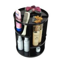 360°Drehbar Make up Organizer schwarz Aufbewahrungsbox Kosmetik-Organizer f. Creme, Pinsel, Lippestifte