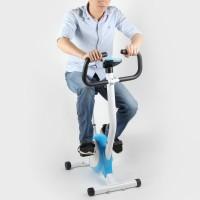 Fahrradtrainer Fitnessbike Fahrrad Hometrainer mit LCD-Display f. Haus