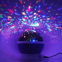 Sternenhimmel Stern-Projektor Nacht Lampe Licht Projektion 360 Grad