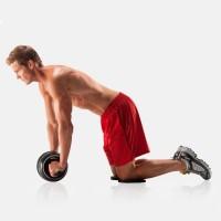 Bauchroller Bauch Fitness Bauchtrainer  Bauchmuskeltraining Knie Pad Training Fitnessgerät Roller