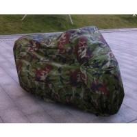 Motorradabdeckung Schutzhülle Camouflage Abdeckplane XXL Armee-Grün
