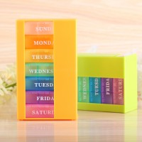 Wochen Medikamentendosierer Tablettenbox Tablettendose Turm 7 Tage
