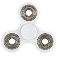 Fidget Spinner, Finger Kreisel,weiss Kunststoff/Metall,Hand Spinner