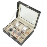 Uhrenbox, Schmucklade Ringkasten mit Deckel  für Broschen schwarz