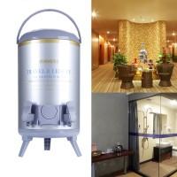 Getränkespender Glühweinbehälter Airpot Edelstahl 10L mit 2 Zapfhähnen
