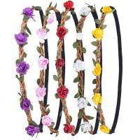 6pcs Blumen Stirnband Haarband Kopfband Krone Kranz für Hochzeit