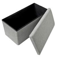 Sitzbank Sitztruhe Polsterbank Aufbewahrungsbox mit Stauraum 85L grau