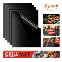 Grillmatte Backmatte Antihaft Grill 5pcs zum Backen BBQ 40x33cm