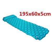 Luftmatratze Isomatte Schlafmatte 195x60x5cm Matratze für Camping blau