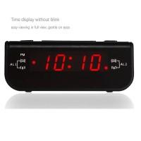 Digital Wecker Radio Uhr Radiowecker mit AM FM USB Dual Alarm Snooze