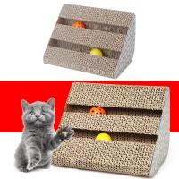 Kratzbett Kratzbrett Kratzmatte Spielzeug mit Katzenminze f. Katze