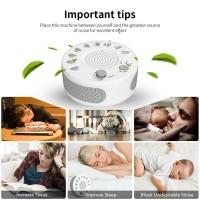 Rauschen Maschine Einschlafhilfe Geräuschgenerator mit Timer weiß