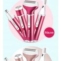 Frauen Elektrischer Frauenrasierer Haarschneider 4in1 USB Kit rosa