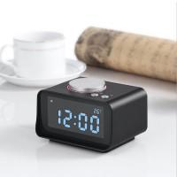 Uhrenradio Radiowecker LCD Digital Wecker FM Dual Alarm Schwarz