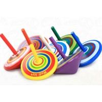 Holzkreisel Spielzeugkreisel Mitgebsel Kreisel aus Holz Zufällig 14er