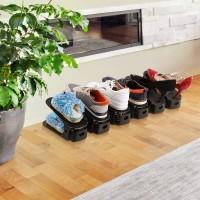 Schuhregale Schuhstapler Schuhhalter Organizer Kunststoff 10er Set