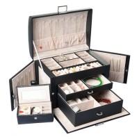 Schmuckkasten Kosmetikkoffer Schublade Schmuckbox Schatulle 3 Ebenen