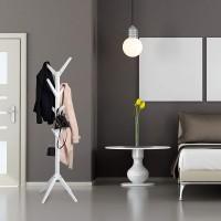 Garderobenständer Kleiderständer Standgarderobe aus Holz mit 8 Haken