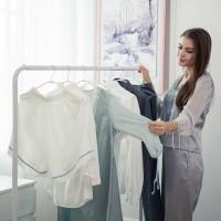 Garderobenständer Kleiderständer Kleiderstange aus Metall mit Ablage