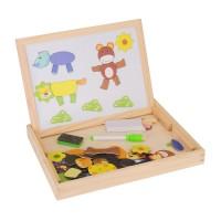 Holzpuzzle Magnetisches Spielzeug Lernspiel Magnetpuzzle für Kinder