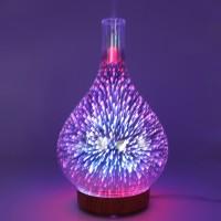 Aromazerstäuber Glas Duft Luftbefeuchter Duftspender Ultraschall 100mL