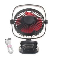 Mini Ventilator Clip Fan USB Desktop Tischventilator Lüfter mit Akku