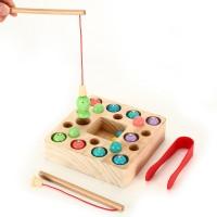 Holzspielzeug Angelspiel Lernspielzeug Magnettafel Kinderspielzeug Set