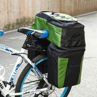 3in1 Gepäckträger Tasche Reissfest Fahrradtaschen mit Regen-Abdeckung