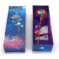 24K Gold Rose Handgefertigt Konservierte Rose mit Geschenkbox für Frau