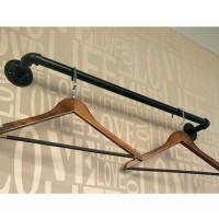 Kleiderstange Kleidergestell Wandmontage Rohr für Garderobe Metall