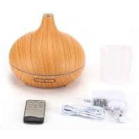 Luftbefeuchter Diffusor Holzmaserung 7 Farbwechsel für Schlafzimmer Büro