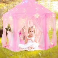 Kinderspielzelt Prinzessin Castle Spielzelt für Kinder mit Sternen
