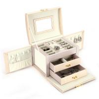 Kosmetikkoffer abschliessbar Reise Box Schublade 3 Ebenen für Frauen