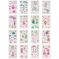 Temporäre Tattoos Aufkleber Kinder Tattoo Mädchen Tattoo Kinder 16er Set