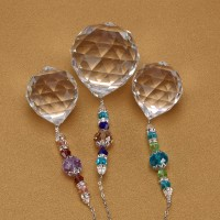 Kristallkugel Prisma Kronleuchter Anhänger Sonnenfänger 3pcs Set