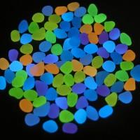 Leuchtende Kieselsteine Leuchtkiesel Floureszierende Pebble Steine 200pcs