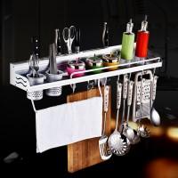 Küchenregal Würzflaschen Regal mit Besteckhaken und Handtuchhalter