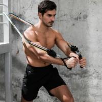 Widerstandsband Gymnastikband Fitnessband Heim-Fitnessgeräte 11pcs Set