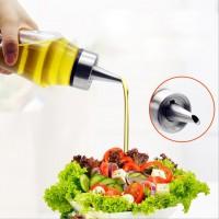 Öl Spender Öl Glasflasche aus Edelstahl und Glas mit Bürste für Kochen
