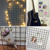 DIY Eisen Gitter Fotowand Brett Organisator Regale für Hause 40 x 40cm