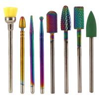 8 Stück Nagelfräser Aufsätze Set Werkzeuge für Maniküre Nagelpflege