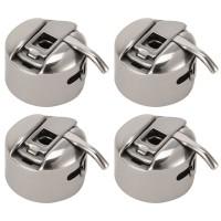 4 Stück Spulenkapsel Edelstahl für Haushaltsnähmaschine Nähzubehör Set