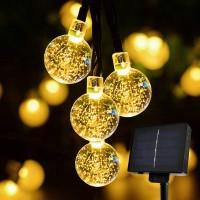 Solar Lichterkette LED Kugel 30er LED Licht Beleuchtung für Garten