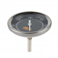 Fleischthermometer Bratenthermometer, aus Edelstahl  0°- 400 °C