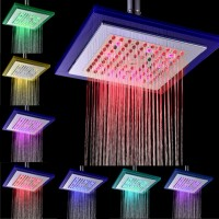 LED 7 Farbwechsel Duschkopf, duschkopf  automatic, viereckig