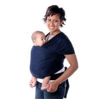Baby Tragesack Tragetuch Bauchtrage Wrap Dunkelblau Baumwolle bis 20kg