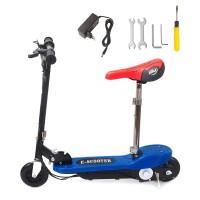 Elektro Scooter Roller Elektroscooter Bremsen mit Sattel 12km/h 100W